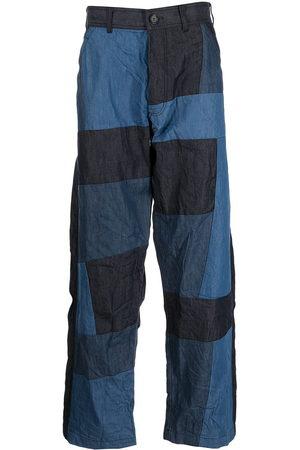 Comme Des Garçons Shirt Patchwork wide-leg trousers