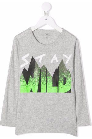 Stella McCartney Kids Stay Wild print T-shirt