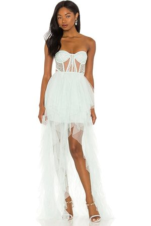 For Love & Lemons X REVOLVE Bustier Hi Low Gown in . Size S, XS, M, XL.