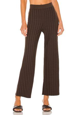 JONATHAN SIMKHAI STANDARD Women Wide Leg Trousers - Celia Compact Rib Cropped Wide Leg Pant in . Size XS, S, M.