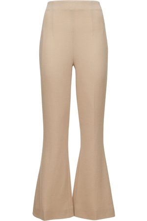 EMILIA WICKSTEAD Women Formal Trousers - Cropped Double Wool Crepe Flared Pants