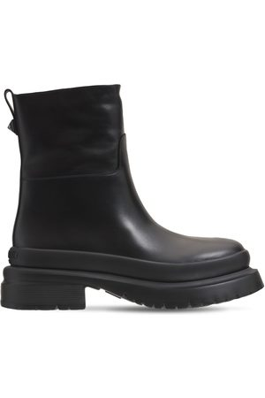 VALENTINO GARAVANI Men Boots - Chunky Leather Ankle Boots
