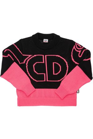 GCDS Intarsia Wool & Acrylic Knit Sweater