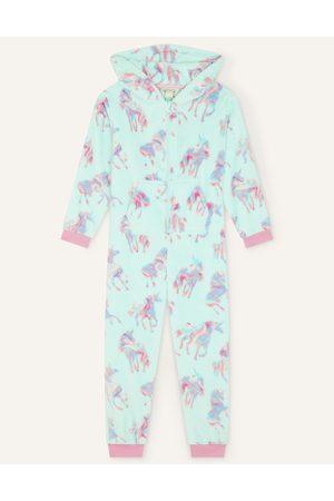 Monsoon (AQUA) Ada Unicorn Sleepsuit , Print, in Size: 9-10 Years