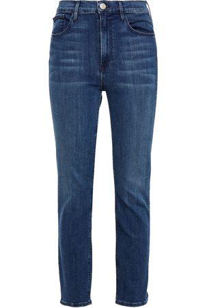 3X1 Women Skinny - Woman Odette Cropped High-rise Slim-leg Jeans Dark Denim Size 25