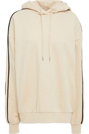 NINETY PERCENT Women Hoodies - Woman Striped Organic Cotton-fleece Hoodie Size L