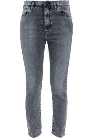 3X1 Women Skinny - Woman Asha Cropped High-rise Skinny Jeans Gray Size 23