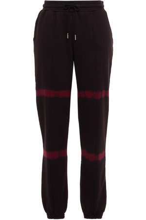 NINETY PERCENT Women Trousers - Woman Tie-dyed French Cotton-terry Track Pants Merlot Size L