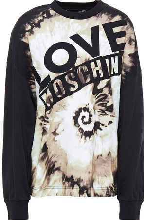 LOVE MOSCHINO Women Sweatshirts - Woman Printed French Cotton-terry Sweatshirt Size 40