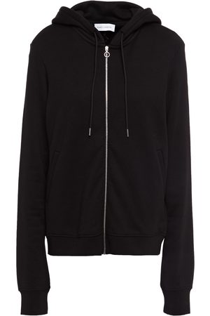 NINETY PERCENT Women Summer Jackets - Woman Mélange French Cotton-terry Hooded Track Jacket Size M