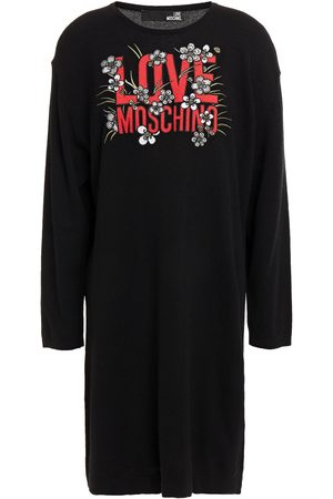 LOVE MOSCHINO Women Knitted Dresses - Woman Embroidered Knitted Mini Dress Size 40