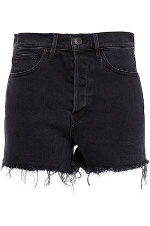 3X1 Women Shorts - Woman Carter Frayed Denim Shorts Size 23