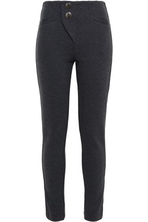 APL® ATHLETIC PROPULSION LABS Woman Cotton And Wool-blend Jersey Leggings Charcoal Size L