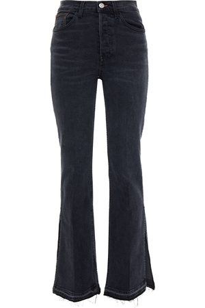 3X1 Women Bootcut - Woman + Mini Cuttrell High-rise Bootcut Jeans Anthracite Size 23