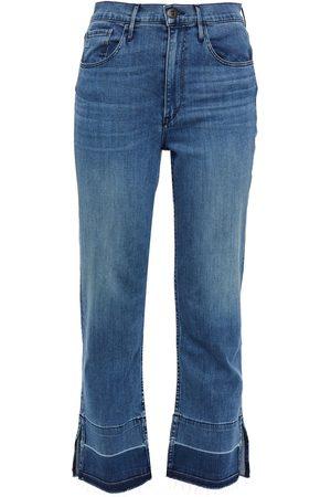3X1 Women Bootcut - Woman Abigail High-rise Kick-flare Jeans Mid Denim Size 24