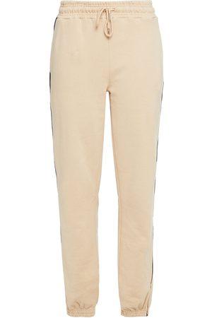 NINETY PERCENT Woman Striped Cotton-fleece Track Pants Size L