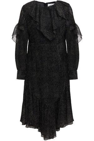 ANTIK BATIK Women Dresses - Woman Pita Bow-detailed Ruffled Flocked Chiffon Dress Size 36