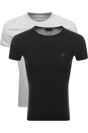 Armani Men Short Sleeve - Emporio 2 Pack Crew Neck T Shirts