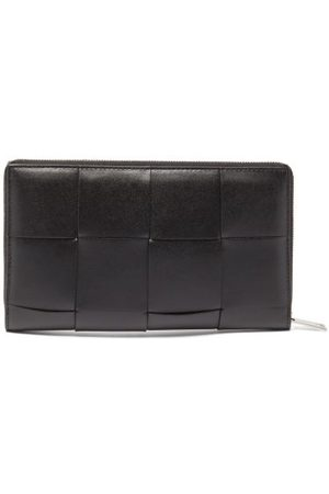 Bottega Veneta Intrecciato Zipped Leather Wallet - Mens