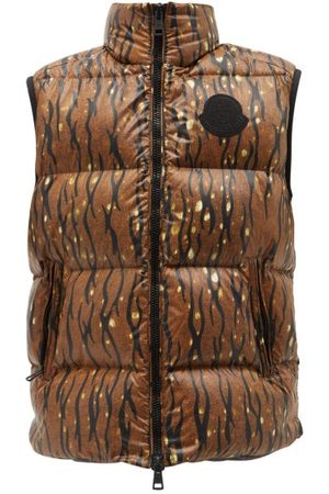 Moncler Men Body Warmers - 1952 - Sumida Camouflage-print Quilted Nylon-laqué Gilet - Mens