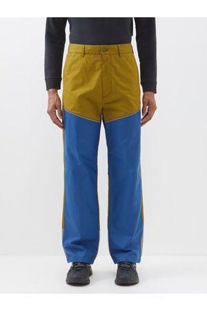 Moncler 1952 - Bi-colour Cotton And Nylon-shell Trousers - Mens