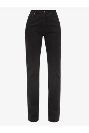 Saint Laurent High-rise Straight-leg Jeans - Womens