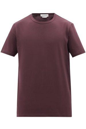GABRIELA HEARST Bandeira Organic Cotton-jersey T-shirt - Mens - Burgundy