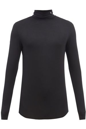 RAF SIMONS R-embroidered Modal-blend Jersey Roll-neck Top - Mens