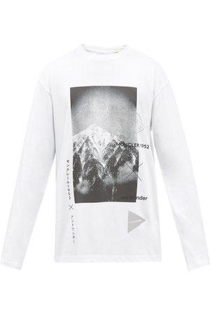 Moncler 1952 - Logo-print Cotton-jersey Long-sleeve T-shirt - Mens