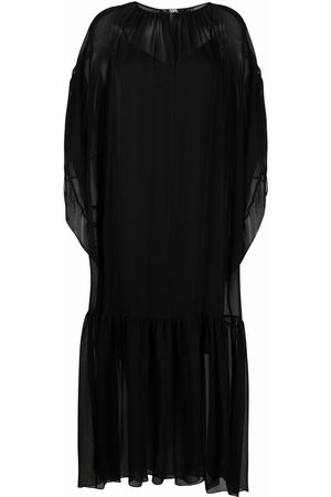 Karl Lagerfeld Gathered silk maxi dress