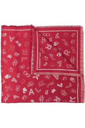 Karl Lagerfeld Women Scarves - K/Pins patterned jacquard scarf