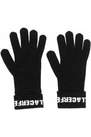 Karl Lagerfeld Soft knit logo gloves