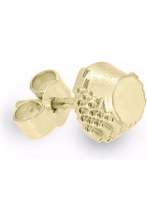 HARRIET MORRIS 9kt yellow Glitch single earring