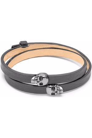 Northskull Atticus skull double wrap bracelet