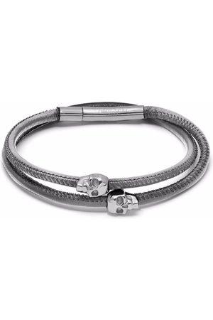 Northskull Micro Atticus skull double wrap bracelet