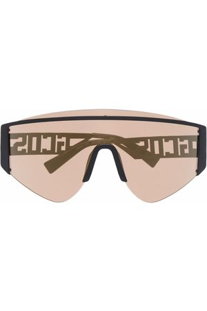 GCDS Oversized shield-frame sunglasses