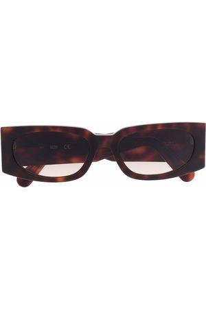 GCDS Tortoiseshell rectangular-frame sunglasses