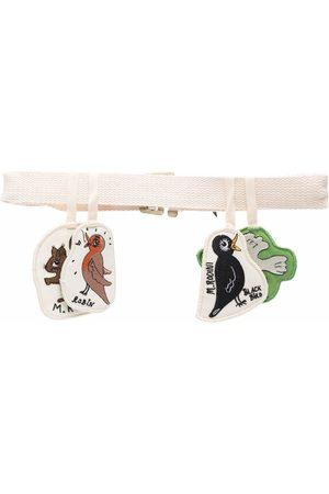 Mini Rodini Organic cotton animal-patch belt - Neutrals