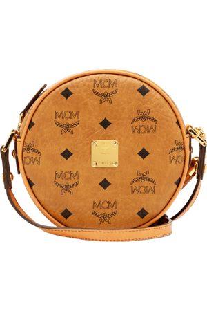 MCM Women Suitcases - Heritage Tambourine Crossbody Bag in Visetos