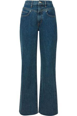 SLVRLAKE Grace High Rise Straight Wide Leg Jeans