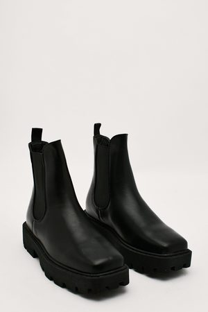 NASTY GAL Women Chelsea Boots - Womens Faux Leather Chelsea Boots