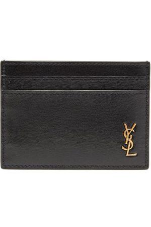 Saint Laurent Men Purses & Wallets - Ysl-plaque Leather Cardholder - Mens