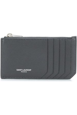 Saint Laurent Men Purses & Wallets - Zip-fastened leather cardholder