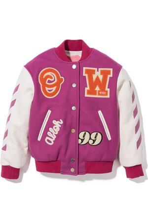 OFF-WHITE Embroidered varsity bomber jacket