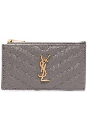Saint Laurent Women Purses & Wallets - Monogram zipped cardholder - Neutrals