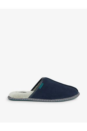 Ted Baker Peterr faux fur-lined suede mule slippers