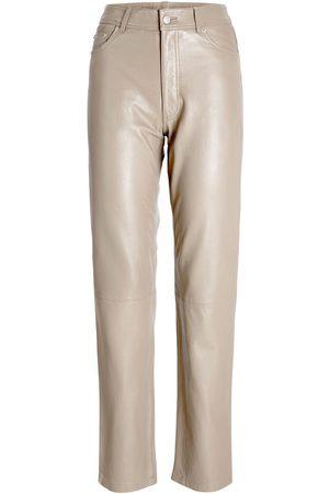 JACK & JONES Men Leather Trousers - Jxgrace Straight Leather Trousers