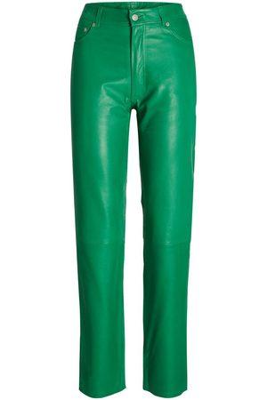 JACK & JONES Jxgrace Straight Leather Trousers