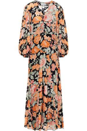 ANTIK BATIK Woman Camille Ruched Floral-print Crepe De Chine Maxi Dress Size 36