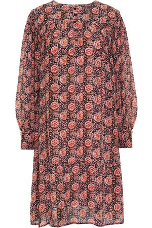 ANTIK BATIK Women Printed Dresses - Woman Nikki Pintucked Printed Crepe Mini Dress Size 36